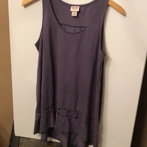 Mossimo Cotton/Polyester Long Tank Size Medium